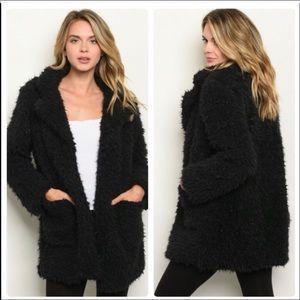 NWT teddy jacket Sherpa with satiny lining Sz M